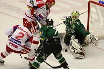 Utkání  51. kola hokejové O2 ELH mezi HC Mountfield České Budějovice a HC Energie Karlovy Vary.