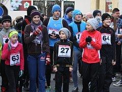Silvestrovský běh v Trhových Svinech.