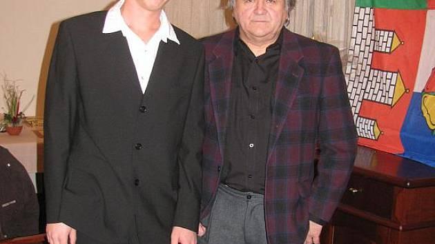 Martin Říčař s trenérem Váňou z SK Čéčova