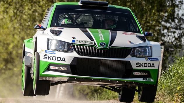 Jan Kopecký na trati loňského ročníku Rallye Český Krumlov.