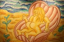 Jedno z děl Michala Singera v krumlovském Egon Schiele Art Centru.