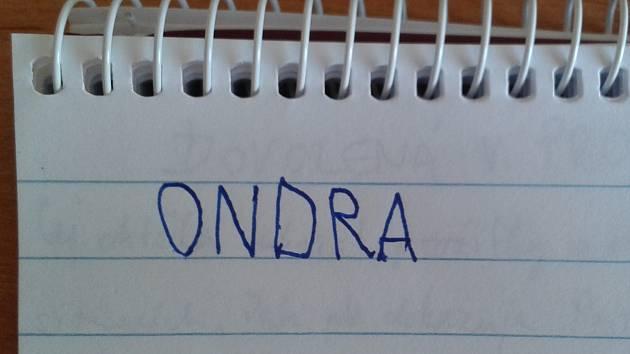 Podpis zvládá Ondra na jedničku.