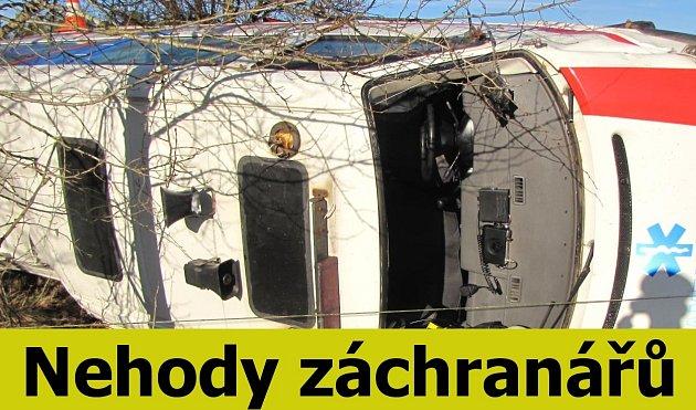 Nehody sanitek a hasičských aut.