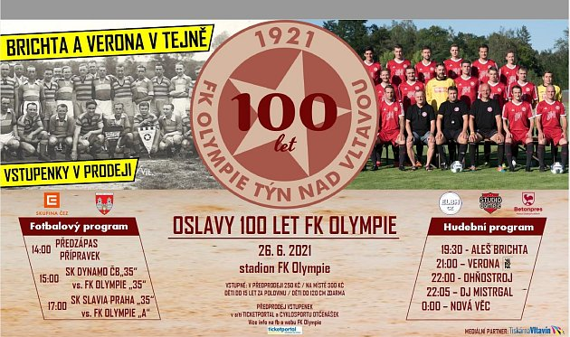 100 let fotbalu vTýně nad Vltavou
