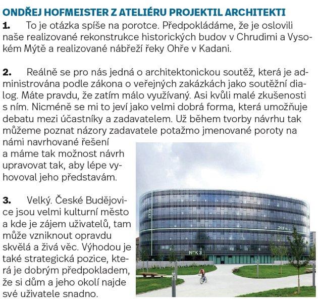 Odpovědi účastníků soutěže orekonstrukci Slavie.