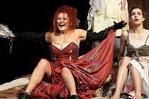 Hra Slaměná židle, komorní drama pro tři herečky a jednoho herce, zachycuje část životních osudů zapuzené ženy z lepších kruhů, lady Rachel Erskine Grange, jejíž charakter velmi přesvědčivě divákům prezentuje Daniela Bambasová.