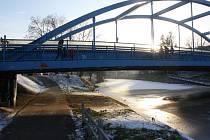 Modrý most nad Malší v Českých Budějovicích.