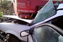 Sobotní nehoda na přejezdu u Netolic si naštěstí nevyžádala lidský život.