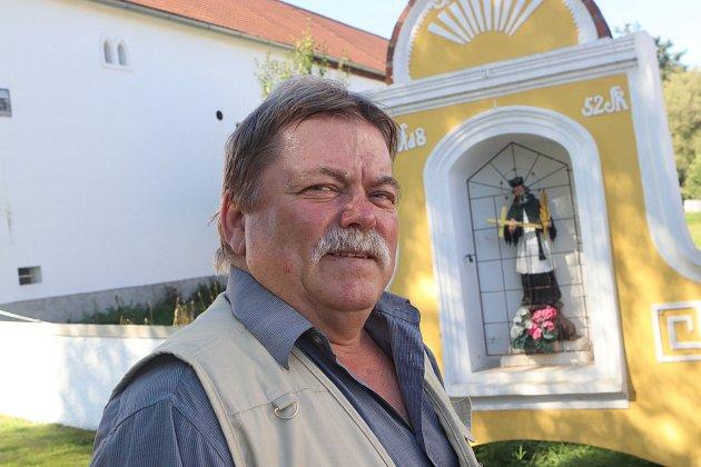 Starosta obce Záboří Josef Honsa.