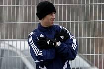 Petr Benát měl na soustředění Dynama v Třeboni individuální tréninky.
