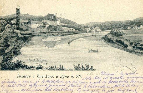 Pohled starých Hněvkovic.