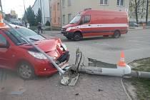 Hasiči vyjížděli v pátek v podvečer k dopravní nehodě v Českých Budějovicích.
