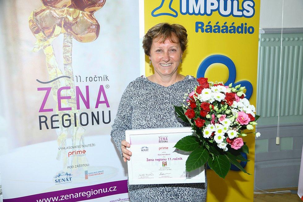 Ženou regionu 2020 byla vyhlášená Hana Korčáková.