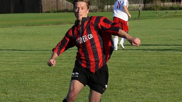 Svatopluk Vokurka, nejlepší střelec v historii fotbalového klubu v Bavorovicích. Z Marineru hostuje nyní v Ševětíně a pořád mu to střílí.