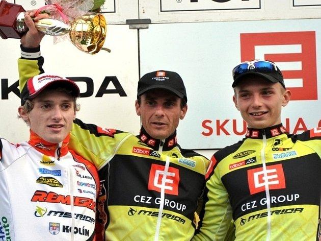 Na mistrovství republiky ve Stříbře budou startovat také cyklokrosaři z CT Tábor. Zprava Milan Boroš a Martin Bína