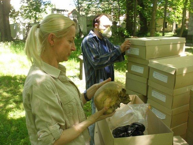 Zaměstnanci Jihočeského muzea uložili na Staroměstském hřbitově ostatky padesáti lidí nalezené při výzkumech v centru metropole.