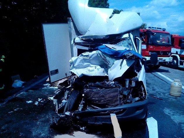 Nehoda u Veselí nad Lužnicí z 3. června.
