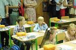 První školní den v ZŠ Máj II v Českých Budějovicích.