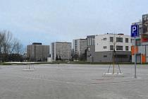 Nové parkoviště v kampusu Jihočeské univerzity.