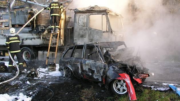 Dopravní nehoda u obce Němčice.