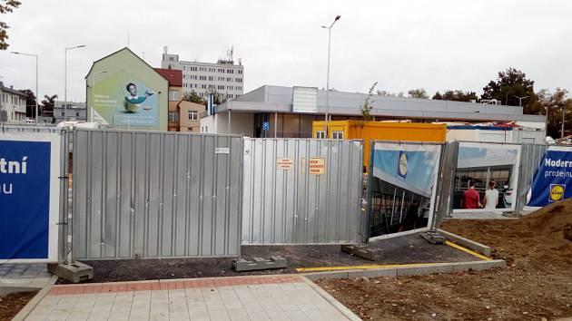 Staveniště Lidlu v Českých Budějovicích. Ilustrační foto.