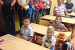 První školní den v ZŠ T. G. Masaryka České Budějovice.