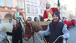 Koledníci v ulicích Českých Budějovic