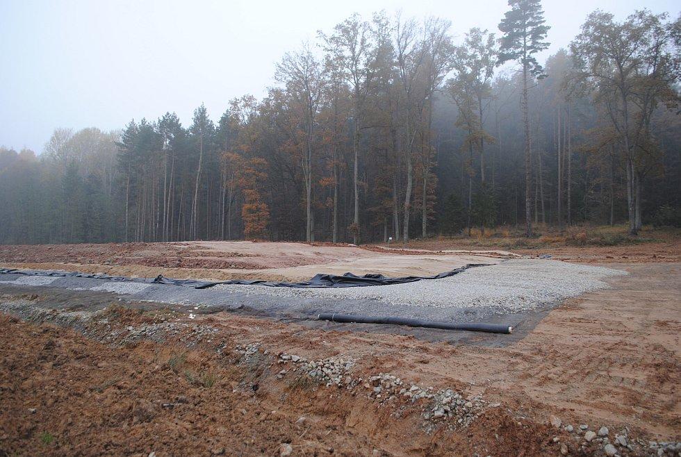 Výstavba D3 mezi Roudným a Plavem.