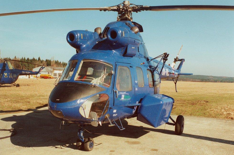 Z historie Letecké záchranné služby v Jihočeském kraji.