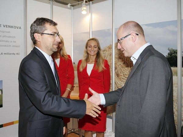 Výstavu navštívil ipředseda vlády Bohuslav Sobotka.