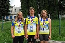 Medailisté z KK Jiskra Týn nad Vltavou