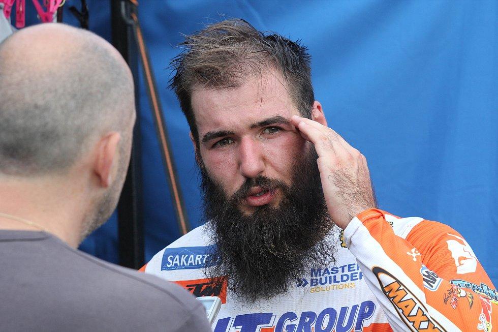 Motokrosový závodník Václav Kovář.