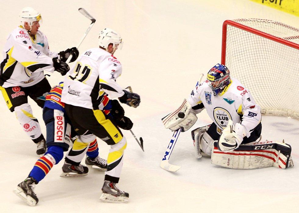 Utkání  1. ligy hokeje mezi HC ČEZ Motor České Budějovice a SK Kadaň.