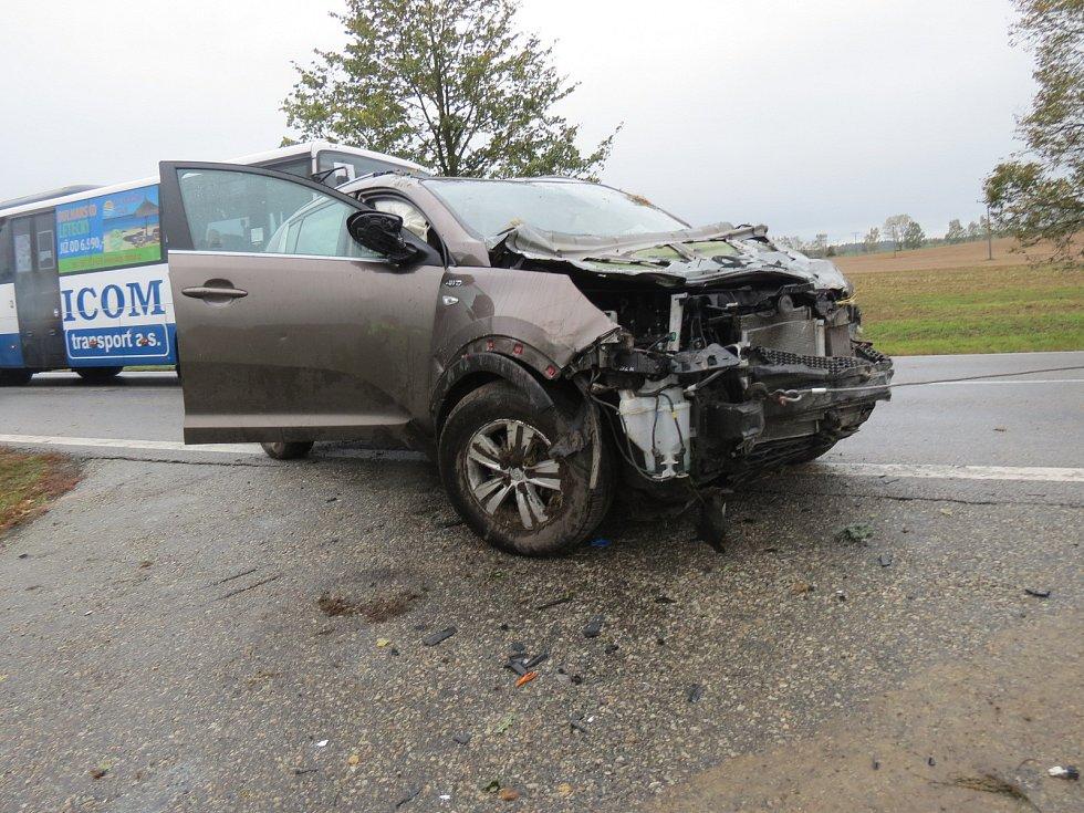 Nehoda u Lišova.