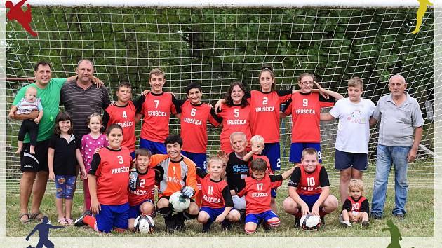 Žákovský fotbalový tým Kruščica, srbský Banát.