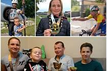 Spokojenou rodinu Krejčích tvoří maminka Petra, syn Matěj, tatínek Karel a syn Jakub. Rodiče ve svých sportovních kariérách posbírali řadu úspěchů. První poháry a medaile už začínají sbírat i jejich děti.