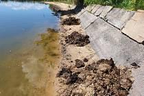 Situaci s koupáním na rybníku Bezdrev zkomplikoval podle rybářů nedostatek vody.