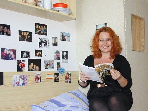 Veronika Kadlecová bydlí již pátým rokem na koleji.