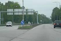 Od Českého Vrbného má čtyřpruh (na snímku) vést až k Češnovicím. Stavět by se mohlo začít v režii ŘSD ČR roce 2021.