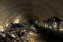 Tunely vyhloubené pod horou Kohnstein jsou i dnes přístupné návštěvníkům.