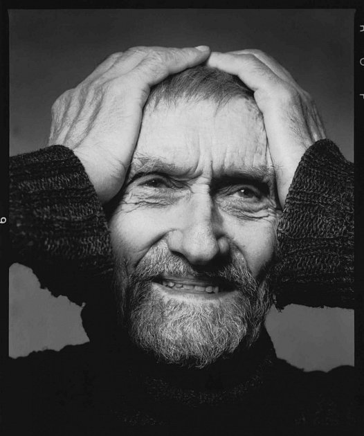 Grafik František Peterka (1920 – 2007). Portrét z19. ledna 2005, fotil Michal Tůma.