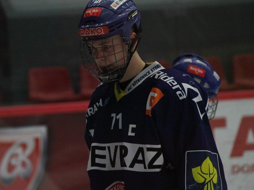 Kapitán Vítkovic Tomáš Jáchym je odchovancem HC ČB.