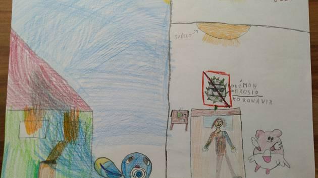 Obrázky nakreslil Matěj Kovačík 11 let a Lenka Kovačíková 8 let.