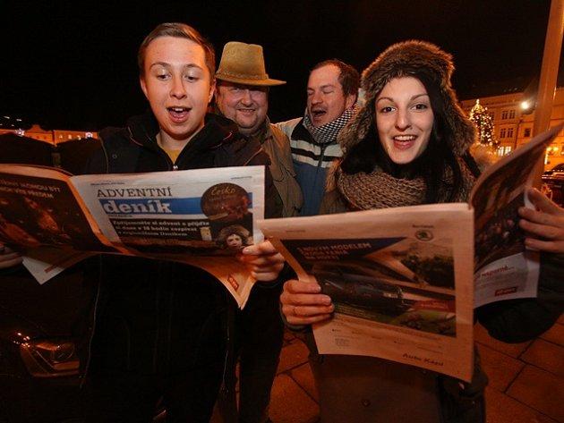 Česko zpívá koledy na budějovickém náměstí 10. prosince 2014.