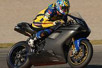 Jakub Smrž při testování nového motocyklu Ducati v Almerii.