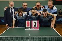 Stolní tenisté Pedagogu postoupili do druhé ligy.ili