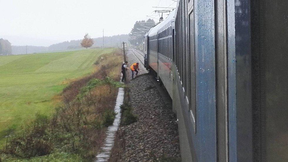 Mezi Summerau a Hornim Dvořistem najela vlaková souprava, která jezdí na trati z Lince do Prahy na vyvrácený strom.