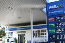 Výtečník si na cenu benzinu  nemohl stěžovat. Než spadla klec.