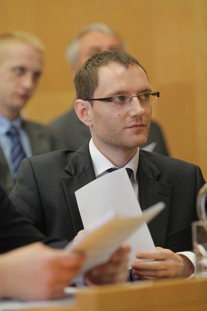 Ustavující zasedání českobudějovického zastupitelstva, pátek 21.listopadu. Na snímku Petr Podhola.