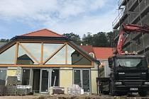 Rekonstrukce objektu pro ergoterapii, který je součástí hlubockého Domova důchodců U Zlatého kohouta.